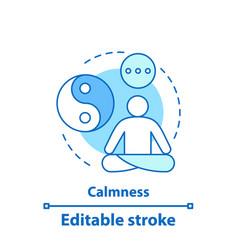 Calmness concept icon vector