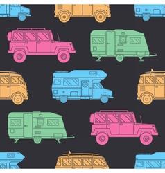Camper Seamless Pattern vector