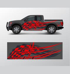 Cargo van and car wrap truck decal designs vector