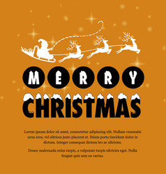 christmas greetings card design with brown vector image
