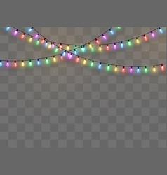 christmas lights isolated vector image