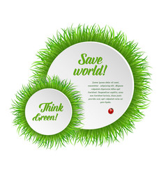 circle grass frame with copy space vector image