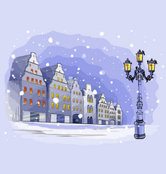 city background with houses vector image