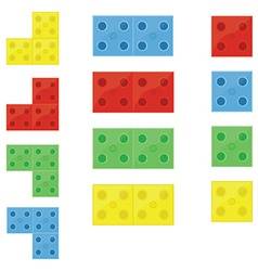 Colorful building blocks vector
