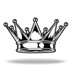 crown black and white king queen 10 vector 27583819