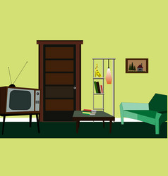 design of the room in the old style vector image