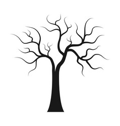 Dry tree icon on white background vector