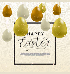 easter holiday template card background vector image