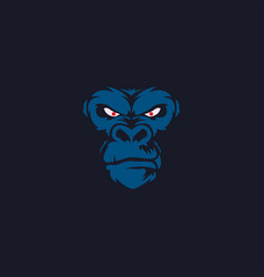 face gorilla abstract logo vector image