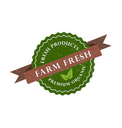 farm fresh product premium organic icon vector image