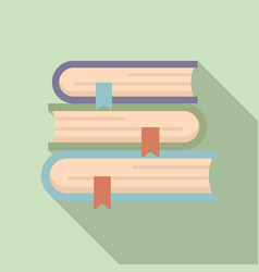 Foreign language study books icon flat style vector