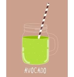Fresh Avocado Smoothie Healthy Food vector