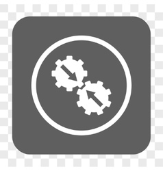Gear Integration Rounded Square Button vector