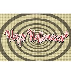 Happy Halloween retro background vector