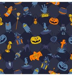 happy halloween retro styled doodle creative vector image
