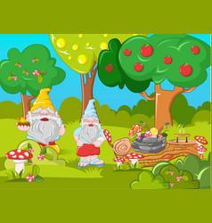 happy leprechauns concept banner cartoon style vector image
