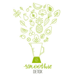 healthy eating template vector image