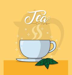 hot tea cup vector image