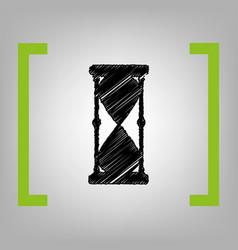 hourglass sign black vector image