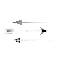 Icons of halftone arrows set of abstract vector