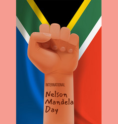 international nelson mandela day concept with vector image