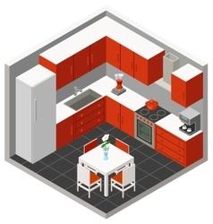 isometric kitchen vector image