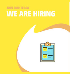 join our team busienss company check list we are vector image