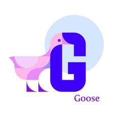 Letter g - goose vector