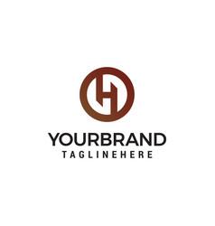 letter h logo design concept template vector image