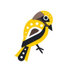 little colorful bird cartoon character vector image