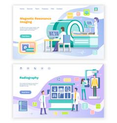 Magnetic resonance imaging radiology doctor web vector