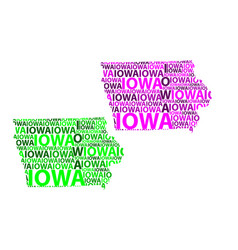 map of iowa vector image