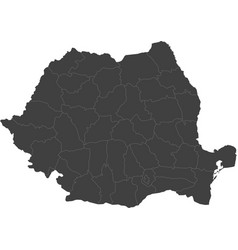 Map of romania split into regions vector