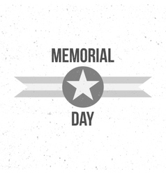 Memorial Day Sign with Text vector image