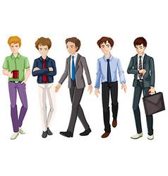 Men in suit and tie vector
