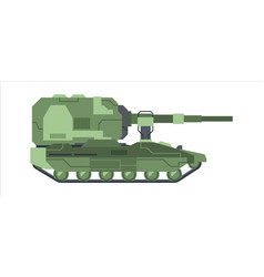 military self propelled artillery camouflage vector image