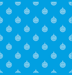 modern christmas ball pattern seamless blue vector image