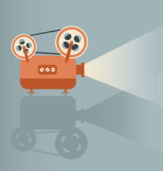 Movie projector vector
