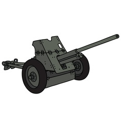 Old khaki cannon vector