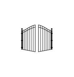 Open gate logo vector