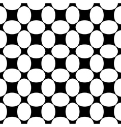Oval and square seamless pattern vector