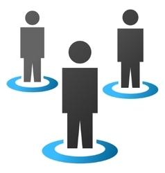 People Portals Gradient Icon vector