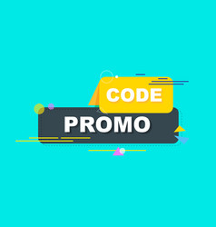 promo code coupon code flat drawing design set on vector image