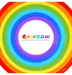 Rainbow Watercolor circle vector image
