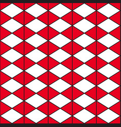 red white triangle vector image