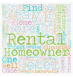 Rental Swaps 1 text background wordcloud concept vector image