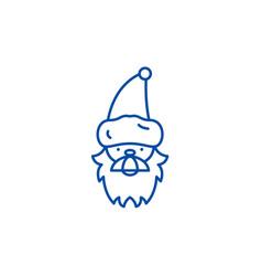 santa claus line icon concept santa claus flat vector image