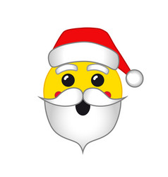 santa emoji smile vector image