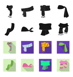 scarf and shawl icon set vector image
