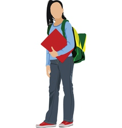 School kid vector